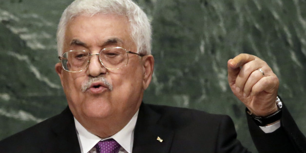 Palestine's President Mahmoud Abbas addresses the 70th session of the United Nations General Assembly, at U.N. Headquarters, Wednesday, Sept. 30, 2015. (AP Photo/Richard Drew)