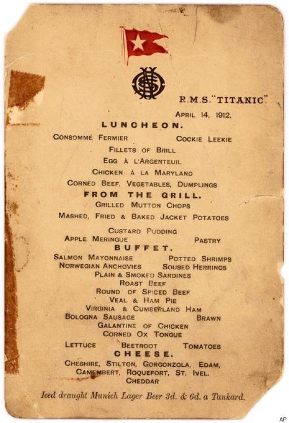 titanic pranzo