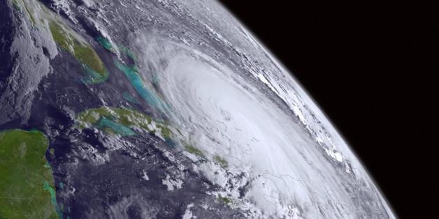 Diese Grafik zeigt den Hurrikan Joaquin aus dem Weltall