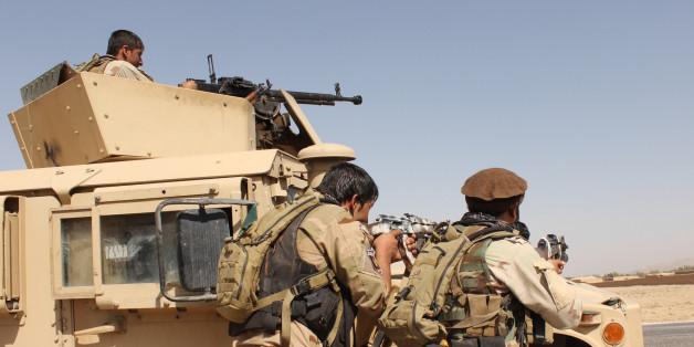 Afghanische Truppen bei der Rückeroberung der Stadt Kundus