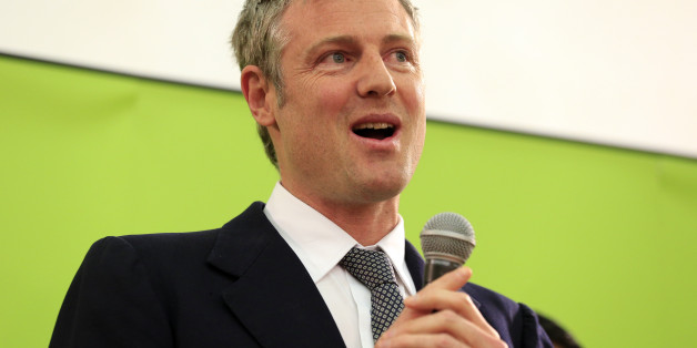 Zac Goldsmith thanks contributors to his campaign after retaining his seat at the count for the parliamentary constituency of Richmond Park, held at Richmond Upon Thames College, Richmond.