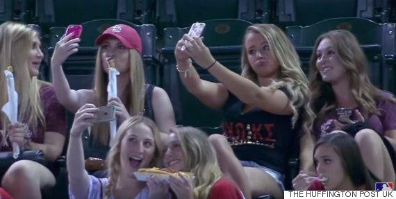 major league baseball selfie