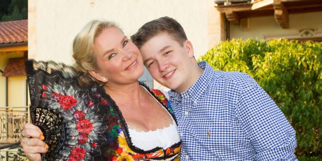 Claudia Effenbergs Sohn landete nach einem Unfall mit einem Motorradfahrer im Krankenhaus.