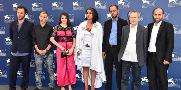 L'équipe du film Madame courage de Merzak Allouache projeté en territoires occupés
