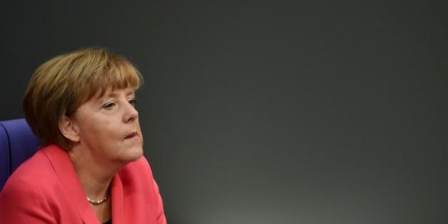 La chancelière allemande Angela Merkel au Bundestag à Berlin, le 24 septembre 2015