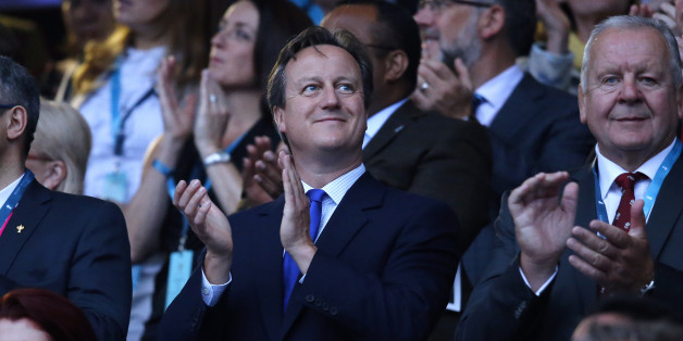 LONDON, ENGLAND - SEPTEMBER 18:  British Prime Minister David Cameron attends the Rugby World Cup 2015 match between England v Fiji at Twickenham Stadium on September 18, 2015 in London, England. (Photo by Jean Catuffe/Getty Images)