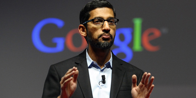 FILE - In this Monday, March 2, 2015 file photo, Sundar Pichai, senior vice president of Android, Chrome and Apps, talks during a conference during the Mobile World Congress, the world's largest mobile phone trade show in Barcelona, Spain. Google is creating a new company, called Alphabet, to oversee its highly lucrative Internet business and a growing flock of other ventures, including some — like building self-driving cars and researching ways to prolong human life — that are known m