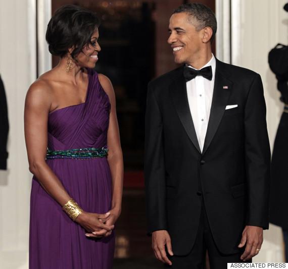 obama barack michelle smiling