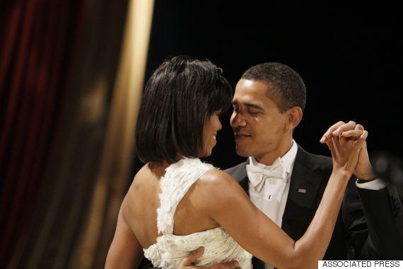 obama barack michelle dance