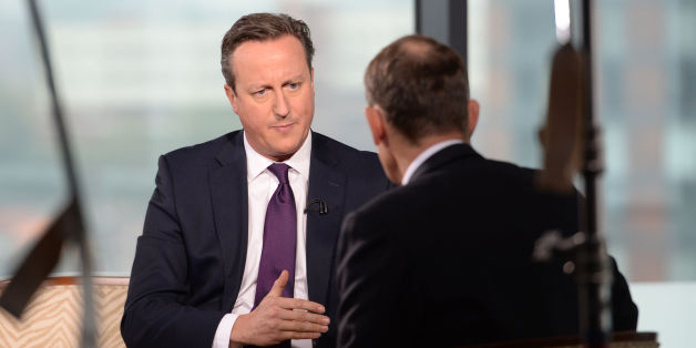 Prime Minister David Cameron (left) is interviewed by Andrew Marr on his BBC1 current affairs programme at Media City in Manchester, before the start of the Conservative Party annual conference.