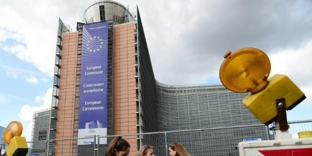 """Le """"Berlaymont"""", édifice cruciforme datant des années 1960, siège de la Commission européenne, le 25 septembre 2015 à Bruxelles"""