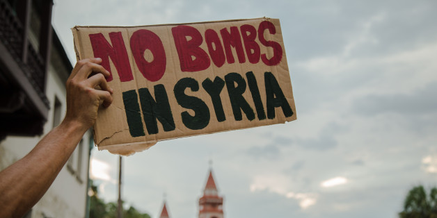 Protest against US military strikes in Syria. Saint Augustine, Florida. September 5, 2013.