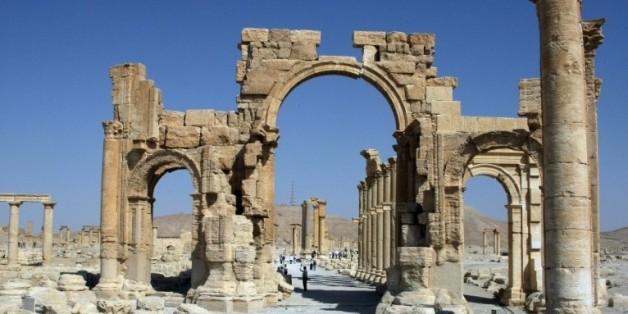 L'Arc de triomphe de Palmyre, le 19 juin 2010 en Syrie