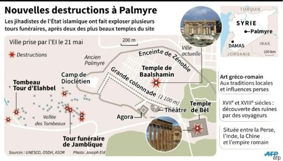 palmyre destructions
