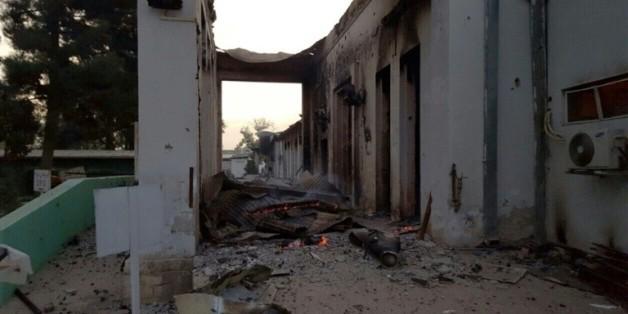 L'hôpital de MSF à Kunduz après son bombardement, le 3 octobre 2015 en Afghanistan  © MSF/AFP MSF
