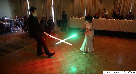 lightsaber dance