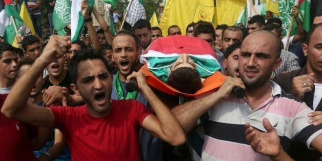 Obsèques le 5 octobre 2015 à Bala de Houzeifa Othmane Souleimane un jeune Palestinien tué la veille à Tulkarem