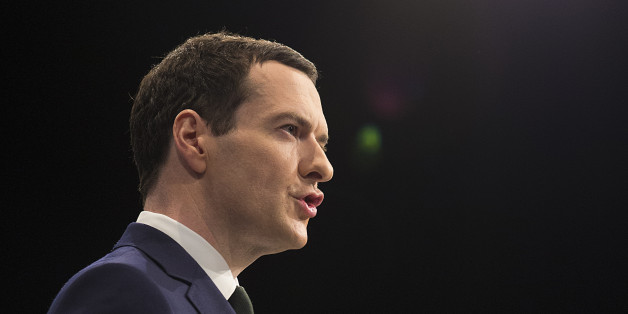 Chancellor of the exchequer George Osborne delivers his speech in the second day of the Conservative Party annual conference in the Manchester Central Convention Centre.