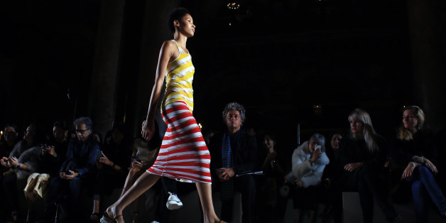 A model wears a creation as part of Stella McCartney's Spring-Summer 2016 ready-to-wear fashion collection, presented during the Paris Fashion Week in Paris, Monday Oct. 5, 2015. (AP Photo/Thibault Camus)
