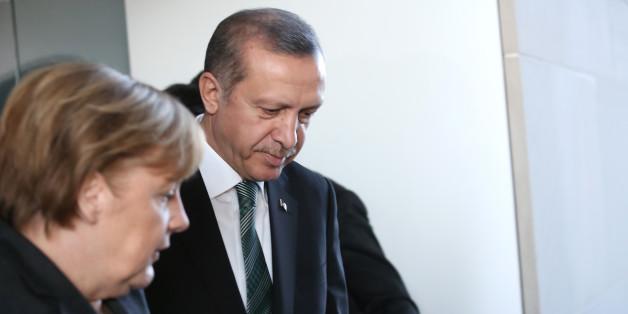 Erdogan und Merkel bei einem Treffen im Februar 2013 in Berlin