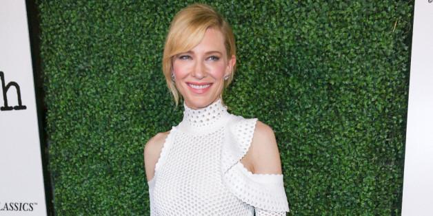 """Cate Blanchett in unschuldigem Weiß bei der Premiere von """"Truth"""" in Beverly Hills"""