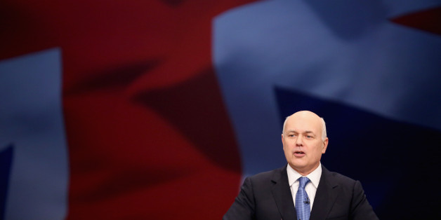 Work and Pensions Secretary Iain Duncan Smith delivers his keynote speech to delegates