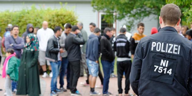 Erstaufnahmelager für Flüchtlinge in Friedland (Niedersachsen)