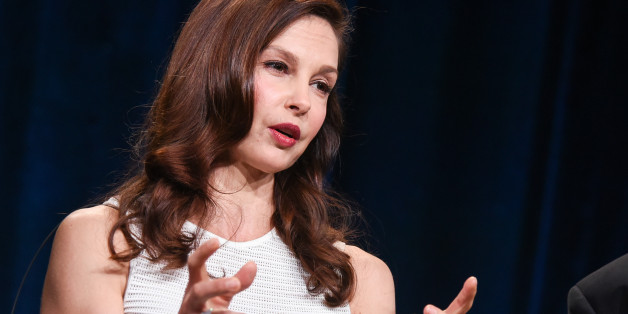 """Ashley Judd speaks on stage during the Independent Lens """"A Path Appears"""" panel at the PBS 2015 Winter TCA on Tuesday, Jan. 20, 2015, in Pasadena, Calif. (Photo by Richard Shotwell/Invision/AP)"""