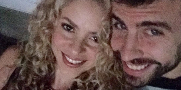 Shakira und Piqué beim U2-Konzert.