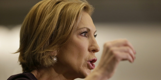 Republican presidential candidate Carly Fiorina speaks during the Quad Cities New Ideas Forum, Friday, Sept. 25, 2015, in Davenport, Iowa. (AP Photo/Charlie Neibergall)