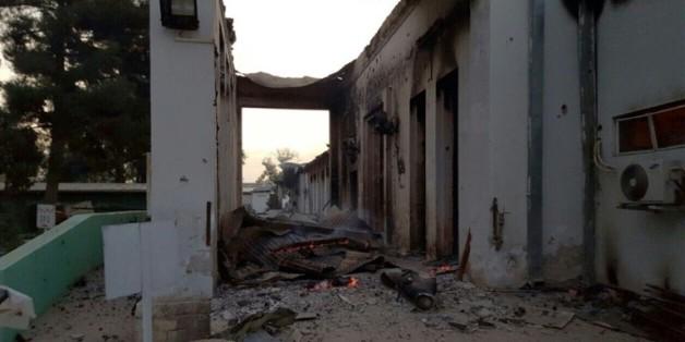 L'hôpital de MSF à Kunduz après son bombardement, le 3 octobre 2015 en Afghanistan
