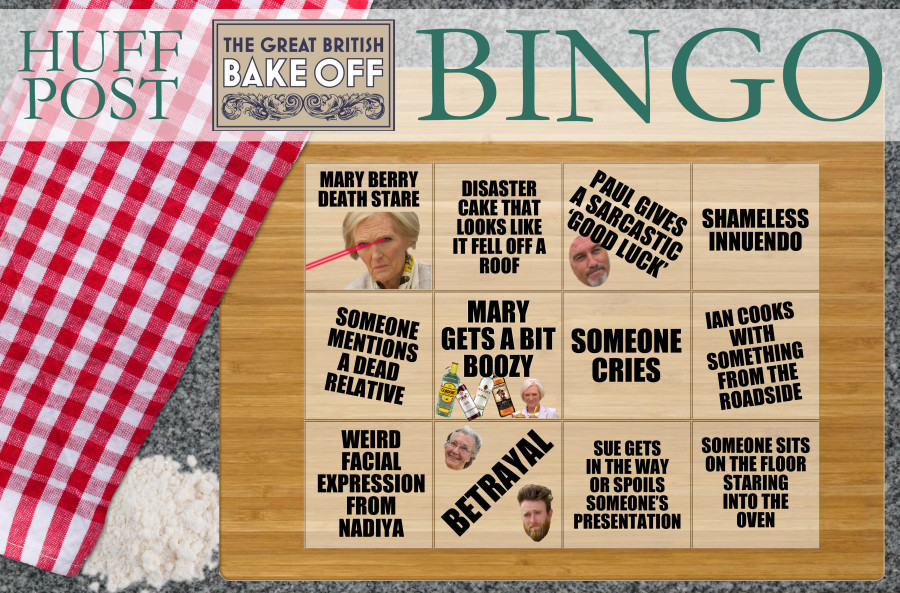 great british bake off bingo drinking game
