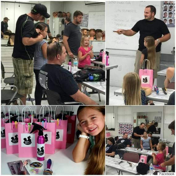dad starts hair school
