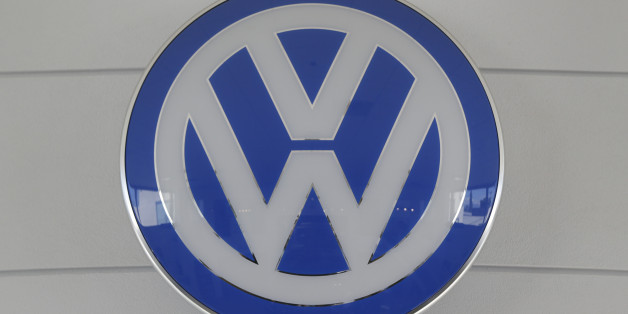 In this Thursday, July 2, 2015, photo, the Volkswagen Group VW emblem is displayed at the New Century Volkswagen dealership in Glendale, Calif. (AP Photo/Damian Dovarganes)