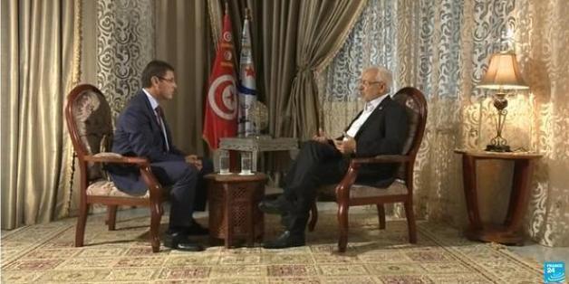 Rached Ghannouchi sur le plateau de France 24