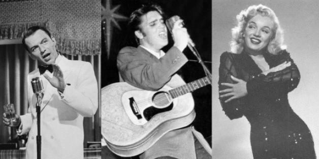 Frank Sinatra, Elvis Presley (Mitte) und Marylin Monroe werden auch heute noch gerne zum Duett gebeten