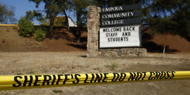 A sign welcomes students back to Umpqua Community College, Monday, Oct. 5, 2015, in Roseburg, Ore. The campus reopened on a limited basis for faculty and students for the first time since armed suspect Chris Harper-Mercer killed multiple people and wounded several others on Thursday before taking his own life at Snyder Hall. (AP Photo/John Locher)