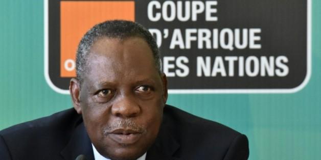 Le président de la CAF et vice-président de la Fifa Issa Hayatou le 29 janvier 2015 à Malabo