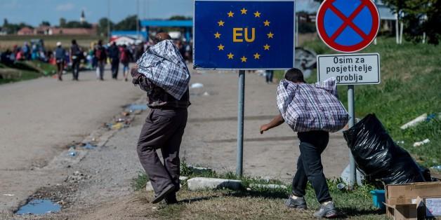 Flüchtlinge an der EU-Außengrenzen von Kroatien
