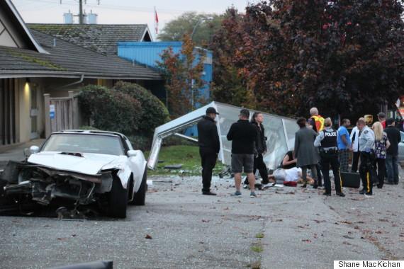 corvette crash surrey