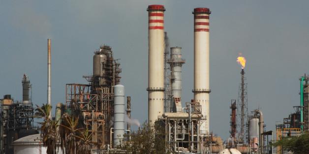 La raffinerie d'Amuay dans la péninsule de Paraguaná au Venezuela