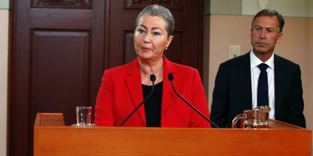 Kaci Kullmann Five, head of the Norwegian Nobel Committee, announces the winner of 2015 Nobel peace prize during a press conference in Oslo, Norway, October 9, 2015. The Norwegian Nobel Committee announced that the 2015 Nobel Peace Prize was awarded to the Tunisian National Dialogue Quartet.    AFP PHOTO / NTB SCANPIX / HEIKO JUNGE   +++   NORWAY OUT   +++        (Photo credit should read HEIKO JUNGE/AFP/Getty Images)