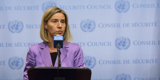 Federica Mogherini, High Representative of the Union for Foreign Affairs and Security Policy and Vice-President of the EC gives a press point after a meeting on Iran nuclear talks during the 70th UNGA in New-York on 28th September 2015.