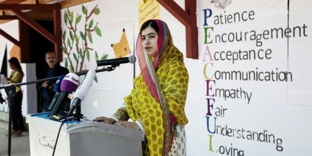 La Prix Nobel de la paix Malala Yousafzai dans la vallée de Bekaa au Liban le 12 juillet 2015