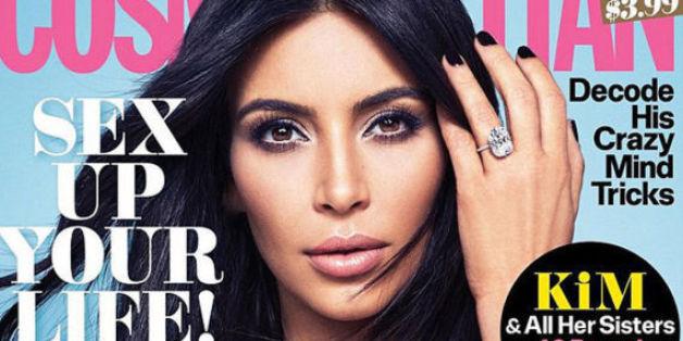 "Kim Kardashian auf dem November-Cover der ""Cosmopolitan"""