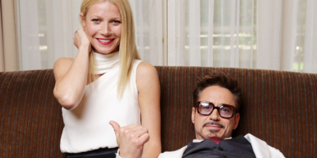 Gwyneth Paltrow und Robert Downey Jr. bei einem PR-Termin 2013 in Los Angeles