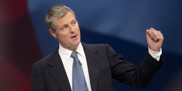 London mayoral candidate Zac Goldsmith addresses delegates in the third day of the Conservative Party annual conference at Manchester Central Convention Centre.