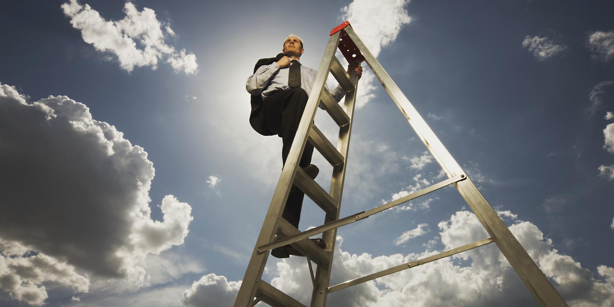 Climbing corporate ladder Free Photo