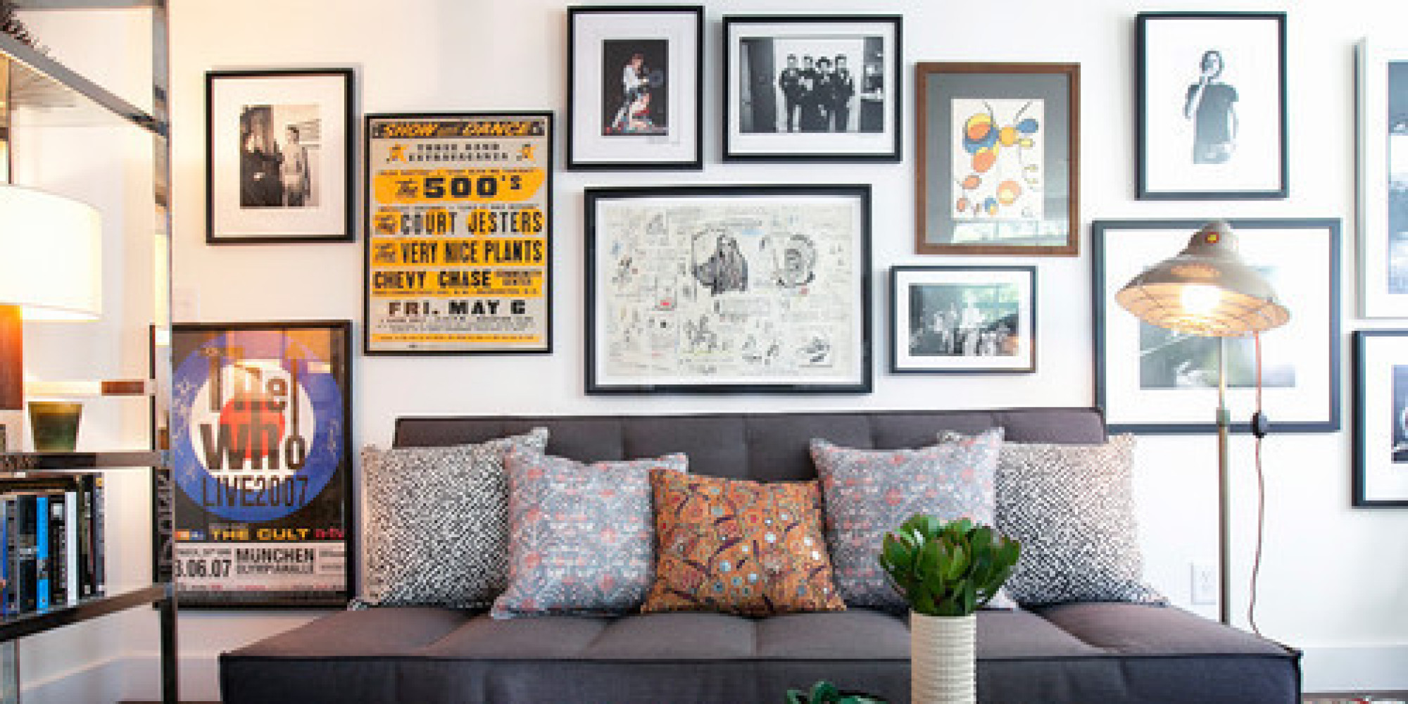 How to create the perfect gallery wall huffpost jeuxipadfo Gallery