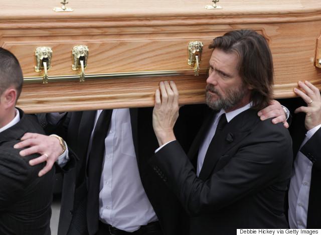 jim carrey funeral